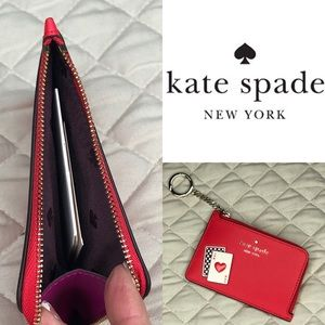 Kate Spade Lucky Draw medium zip card holder